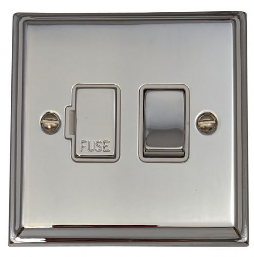 G&H DC257 Deco Plate Polished Chrome 1 Gang Fused Spur 13A Switched